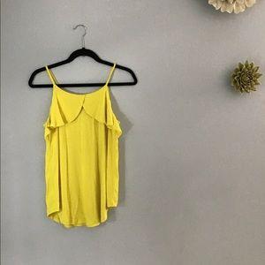 🌼 NWT Maurices Sunshine Yellow Ruffle Tank